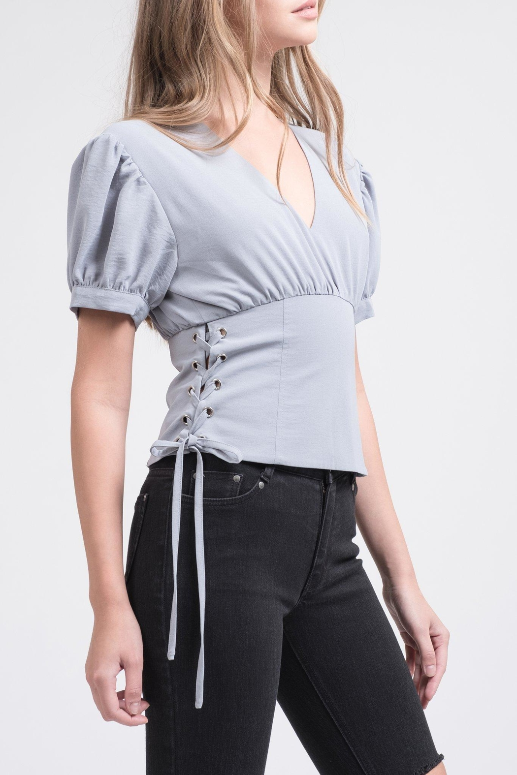 J.O.A. Puff Sleeve Top - Front Cropped Image