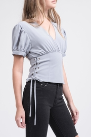J.O.A. Puff Sleeve Top - Front cropped