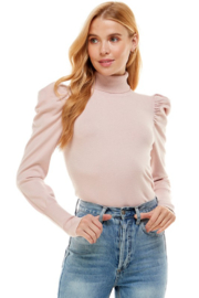 On Twelfth Puff Sleeve Turtleneck Sweater - Front cropped