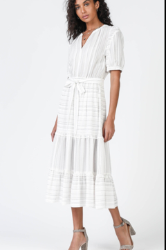 Current Air Puff Sleeved Midi Dress - Product List Image