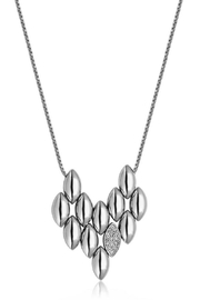 Bling It Around Again Puffed Leaf Necklace - Front cropped