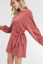 Listicle Puffed-Sleeves Wrap Dress - Product Mini Image