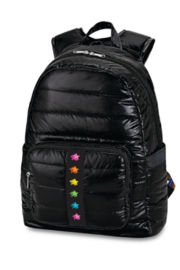 Top Trenz Puffer Black Backpack with Shadow Star Shadow strip - Product Mini Image