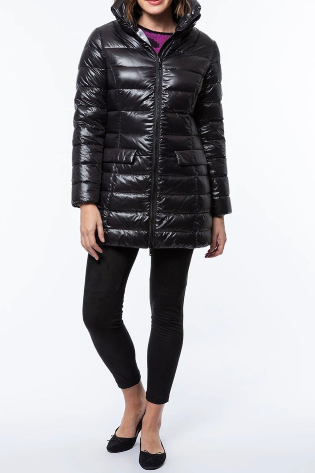 Tyler Boe Puffer Coat - Back Cropped Image