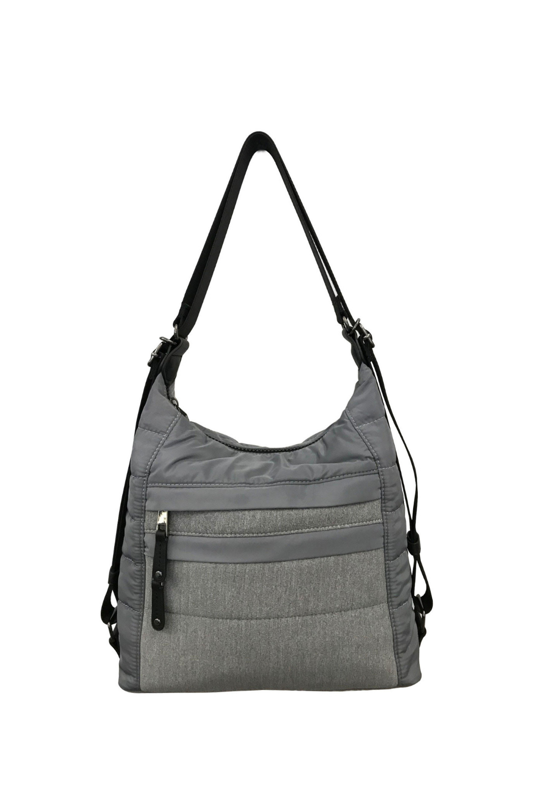 Sondra Roberts Puffer Convertible Hobo - Front Cropped Image