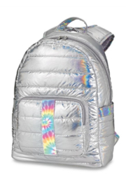 Top Trenz Puffer Iridescent Backpack with Tie Dye Strip - Product Mini Image