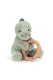 Jellycat  Puffles Dino Wooden Ring Toy - Product Mini Image