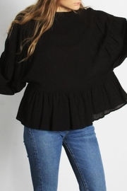 Mod Ref Puffsleeve Top, Black - Front cropped