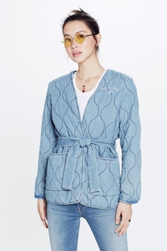 Mother Puffy Denim Jacket - Product List Image