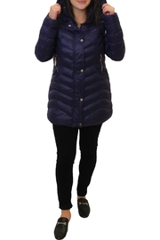 Tribal Puffy Hooded Jacket - Front full body