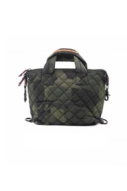 Allie & Chica Puffy Minibag in Camo - Front cropped