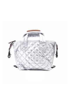 Allie & Chica Puffy Minibag in Silver - Alternate List Image