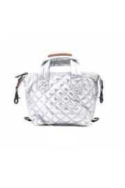 Allie & Chica Puffy Minibag in Silver - Front cropped