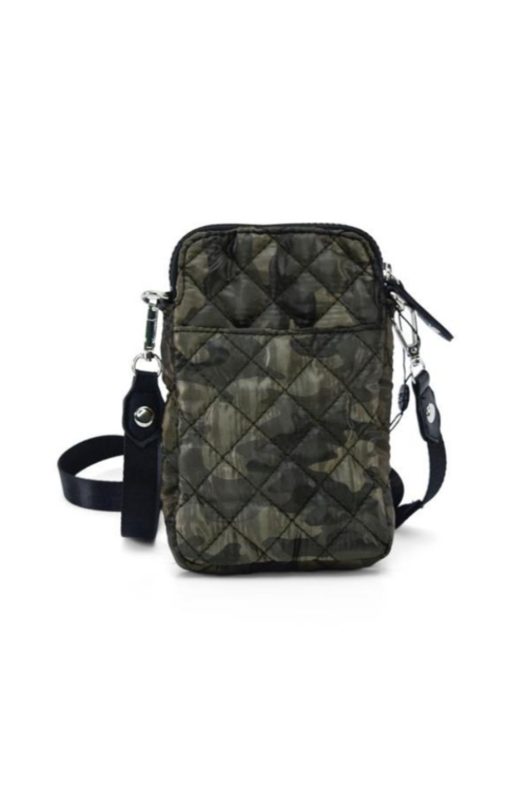Allie & Chica Puffy Phone Holder in Camo - Main Image