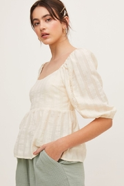 Lush  Puffy Sleeve Blouse - Front full body