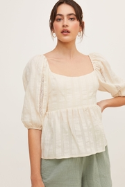 Lush  Puffy Sleeve Blouse - Front cropped
