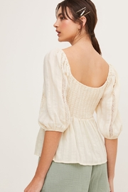 Lush  Puffy Sleeve Blouse - Side cropped
