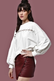 People Outfitter Puffy Sleeves Top - Product Mini Image
