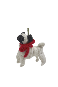 Arcadia Home Pug - Hand Knit Alpaca Ornament - Alternate List Image