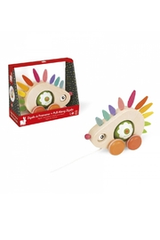 Janod Pull-Along Hedgehog - Front cropped