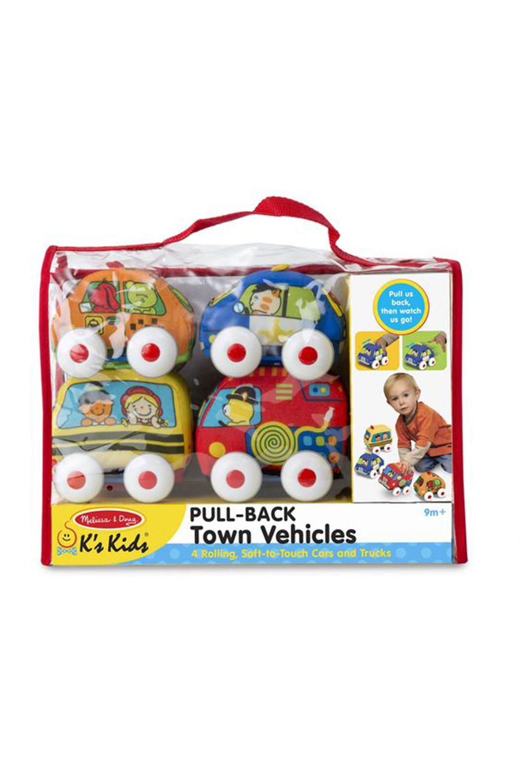 Melissa and Doug Pull-Back Town Vehicles - Back Cropped Image