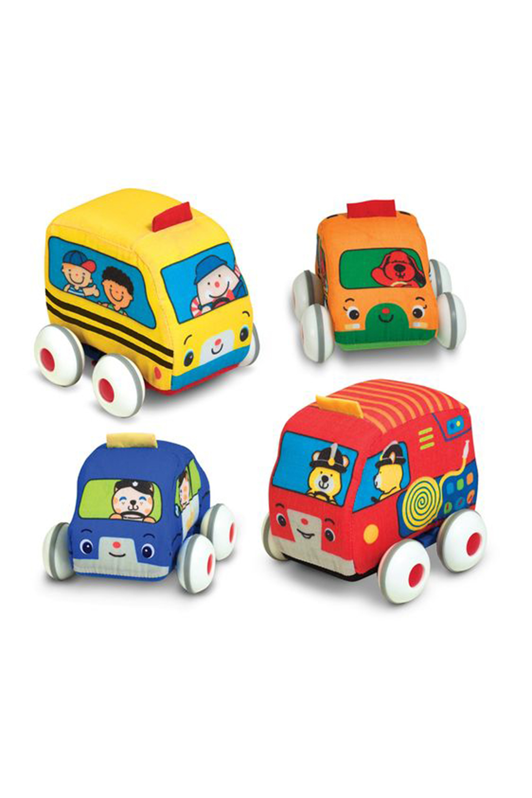 Melissa and Doug Pull-Back Town Vehicles - Front Cropped Image