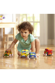 Melissa and Doug Pull-Back Town Vehicles - Front full body