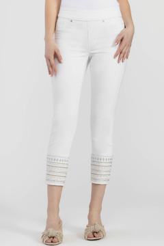 Tribal Pull On Jegging With Embroidered Hem - Product List Image