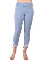 True Blue Clothing Pull-On Ankle Pant w Lace and Stones - Product Mini Image