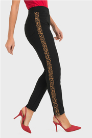 Joseph Ribkoff Pull On Cheetah Stripe Pant - Product Mini Image