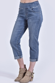 Ethyl Pull-On Denim Crop - Product Mini Image