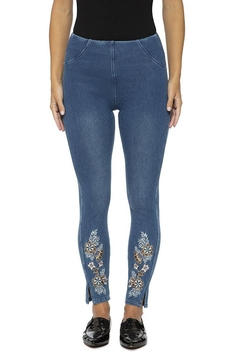 Lysse Pull-On Denim Leggings - Product List Image