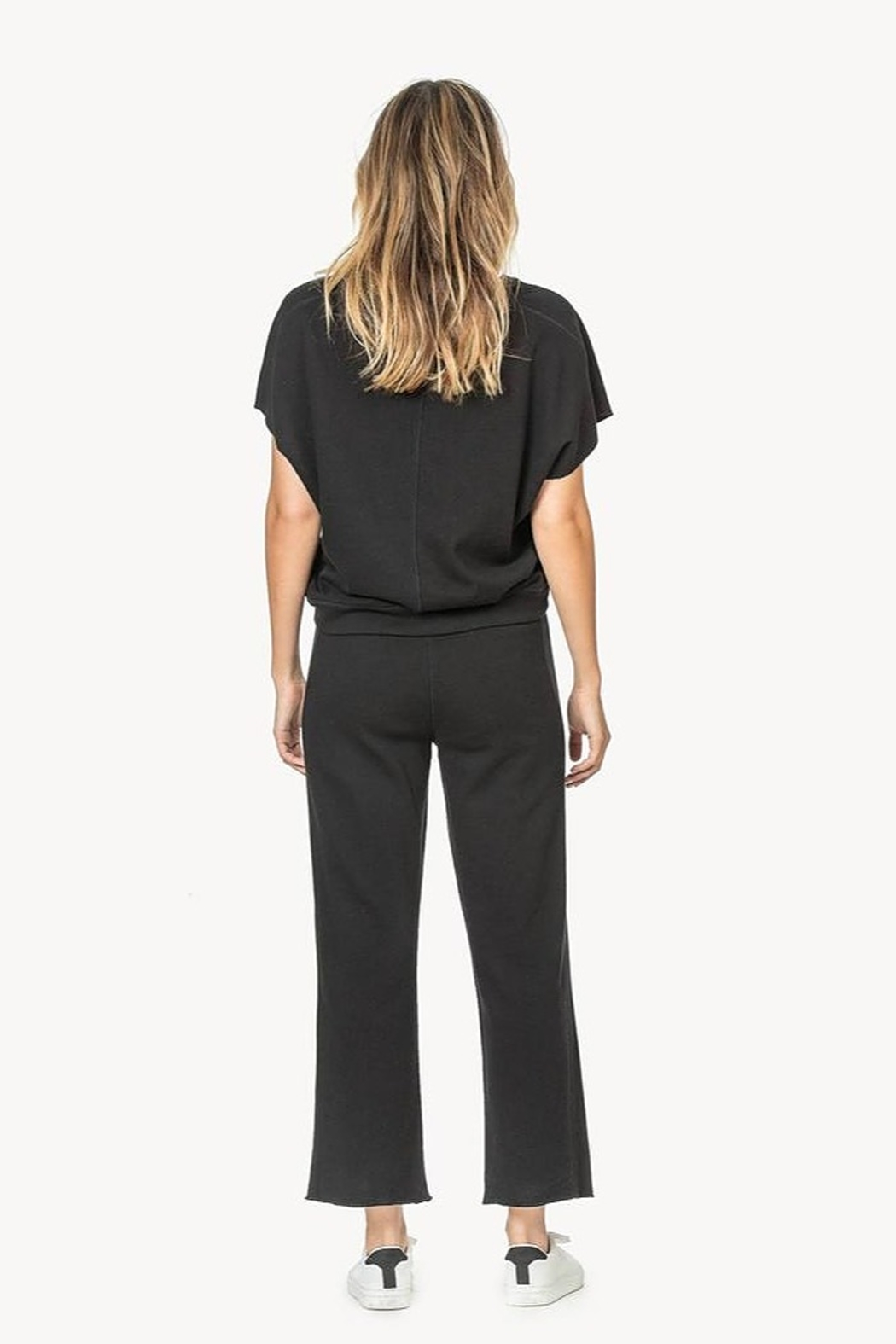 Lilla P Pull on French Terry Pants - Front Full Image