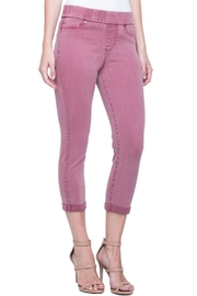 Liverpool Jean Company Pull-On Red Capri - Front cropped