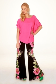 Joseph Ribkoff  Pull on style Floral Wide Leg Pant in a stunning hibiscus tropical print - Product Mini Image