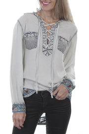 Scully Pull-Over Embroidered Blouse - Product Mini Image