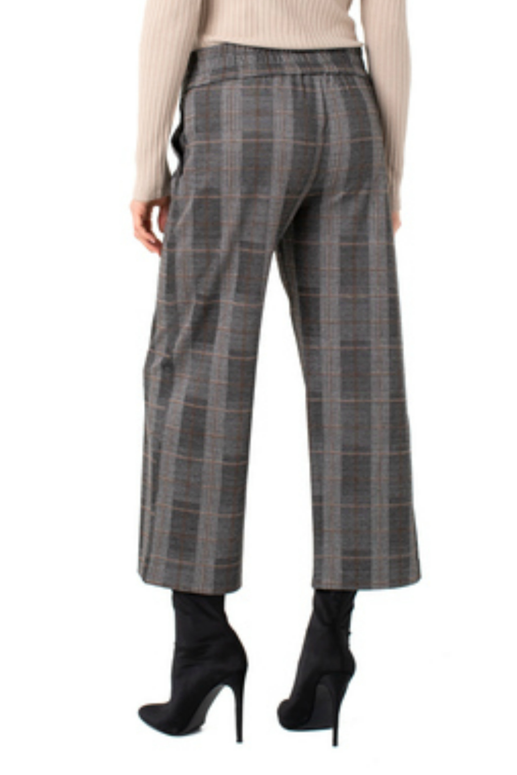 Liverpool  Pull-Over Wide Leg Pant - Front Full Image