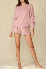 By Together  Pullover French Terry Top - Front full body