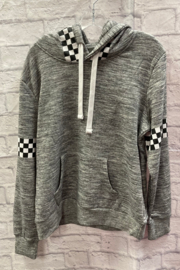 Reflex Pullover hoodie with Checkerboard trim - Product Mini Image