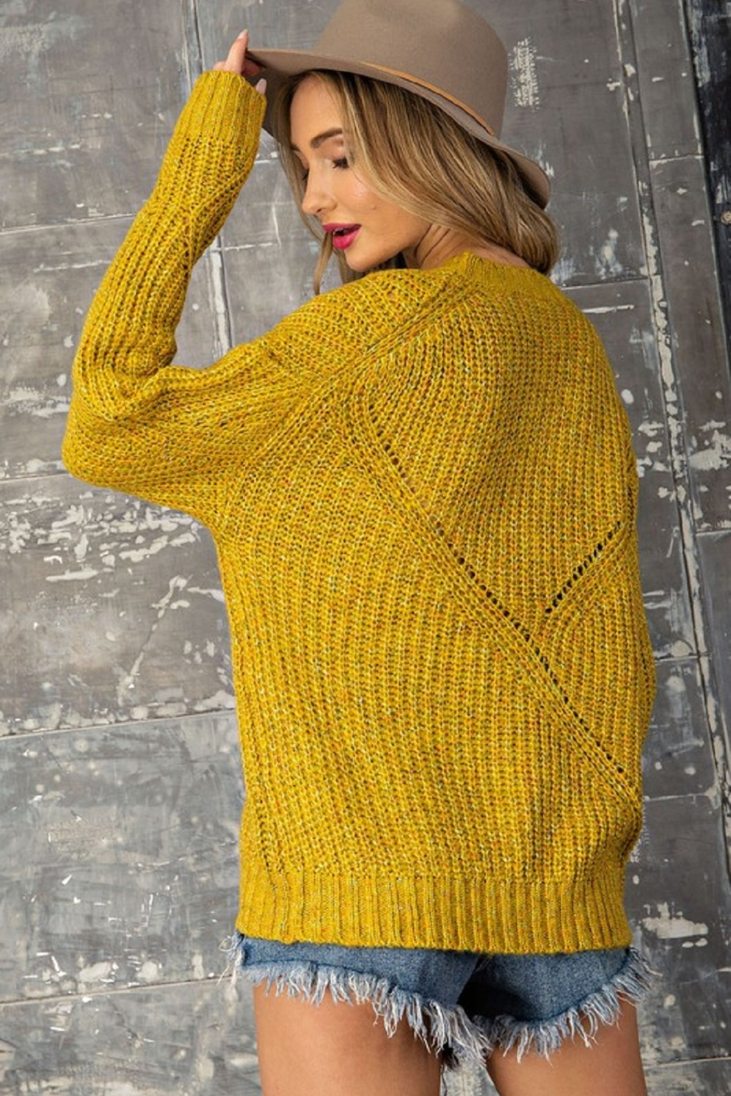 eesome Pullover Knit Sweater - Side Cropped Image
