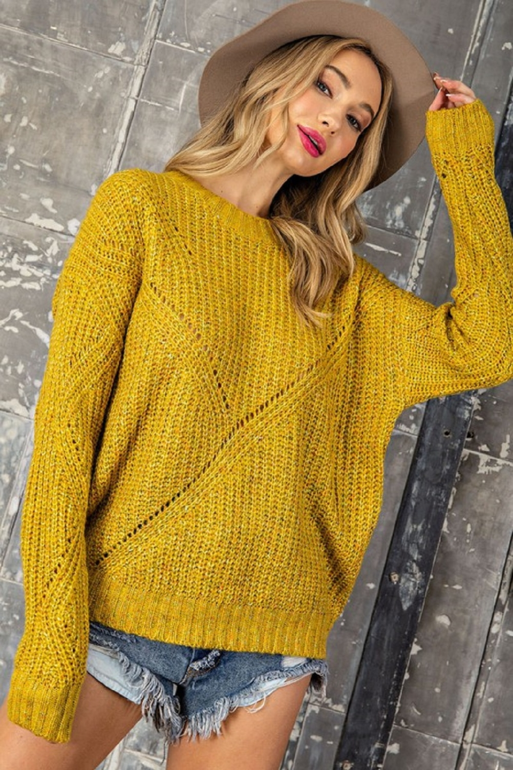 eesome Pullover Knit Sweater - Front Full Image