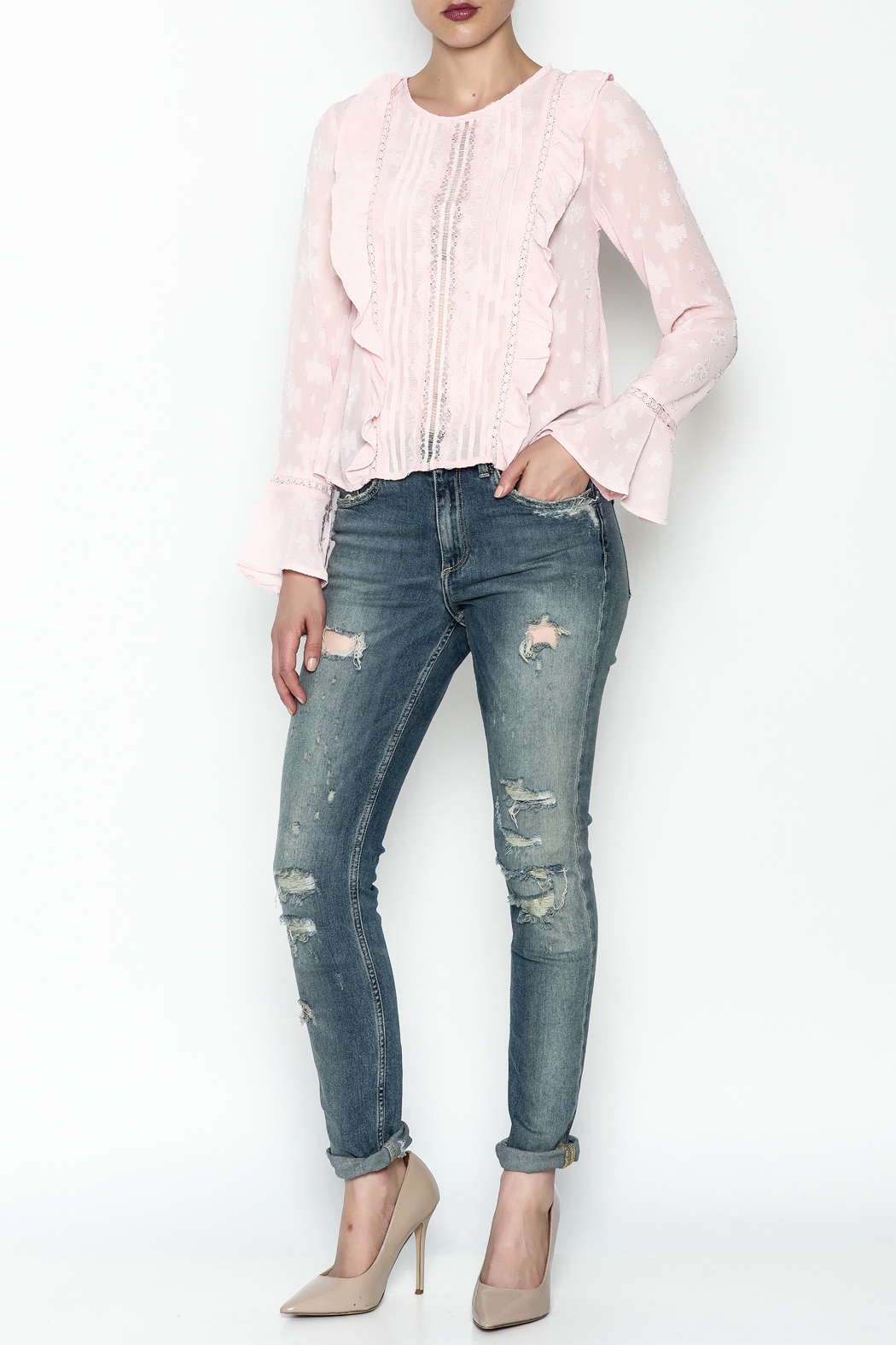 Ark & Co. Pullover Ruffle Blouse - Side Cropped Image