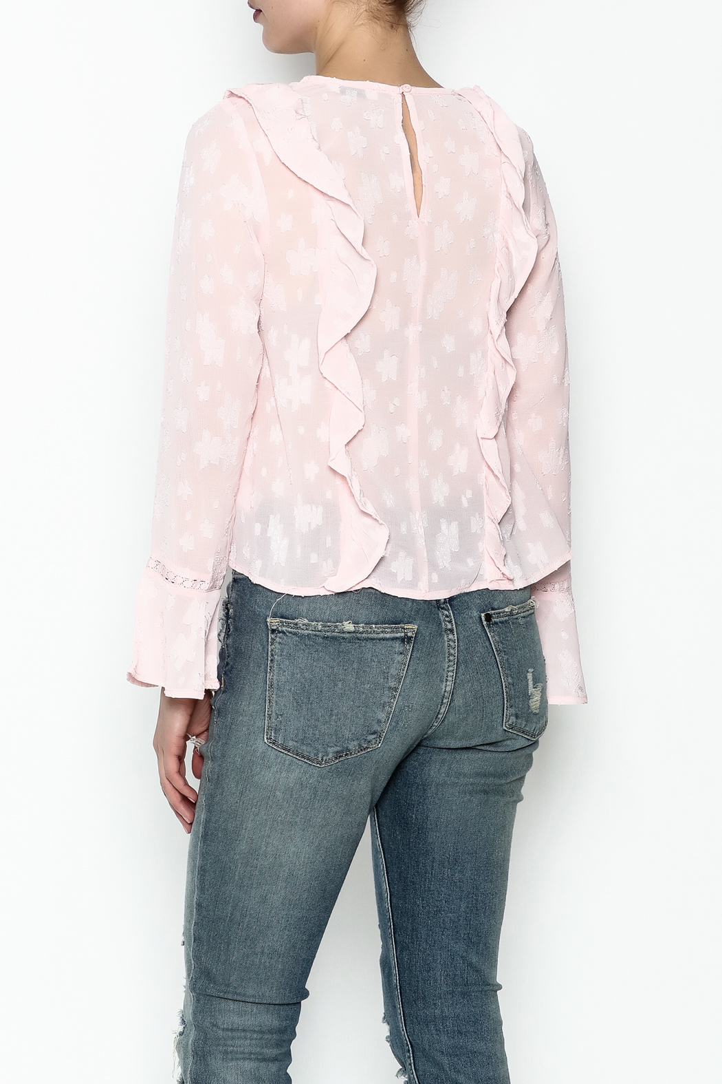 Ark & Co. Pullover Ruffle Blouse - Back Cropped Image