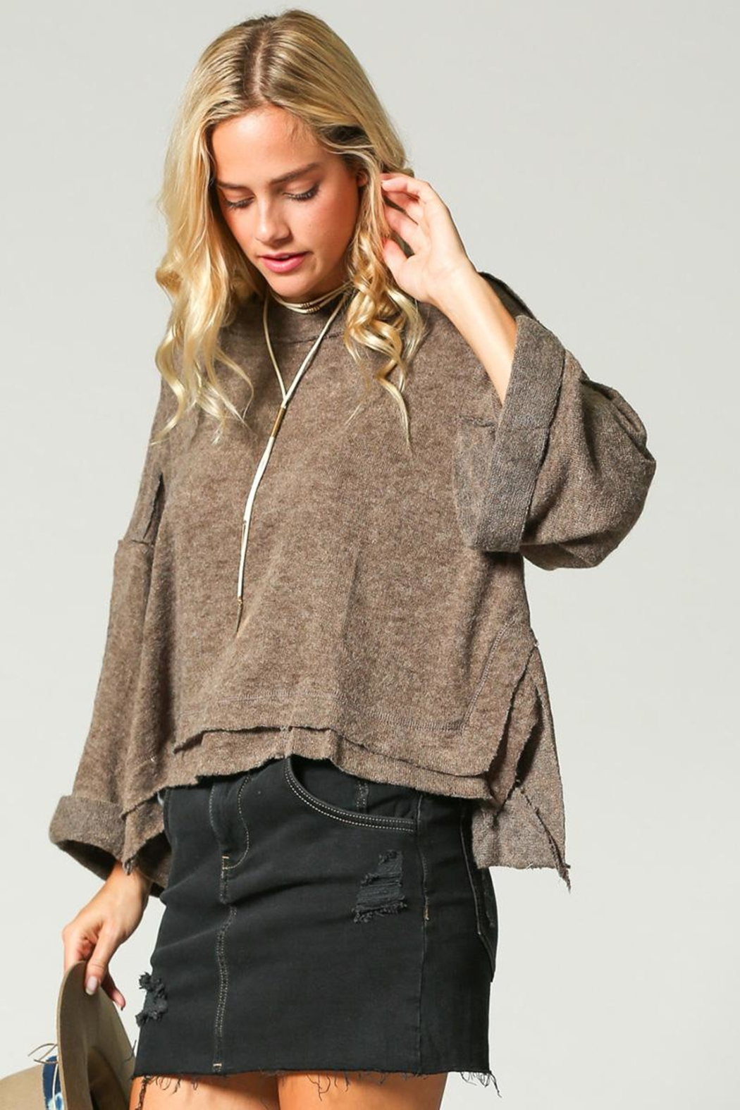 KyeMi Pullover Sweater - Back Cropped Image