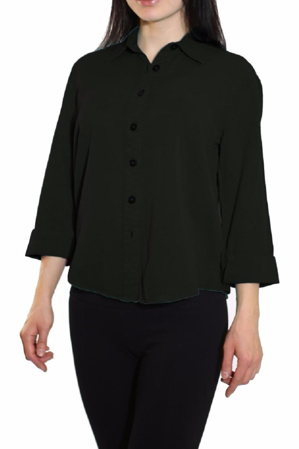 Pulp Tencel Blouse - Front Cropped Image