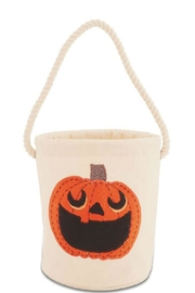 Mud Pie Pumpkin Bucket Tote - Front cropped