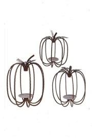 RAZ Imports Pumpkin Candle-Holder Set - Product Mini Image