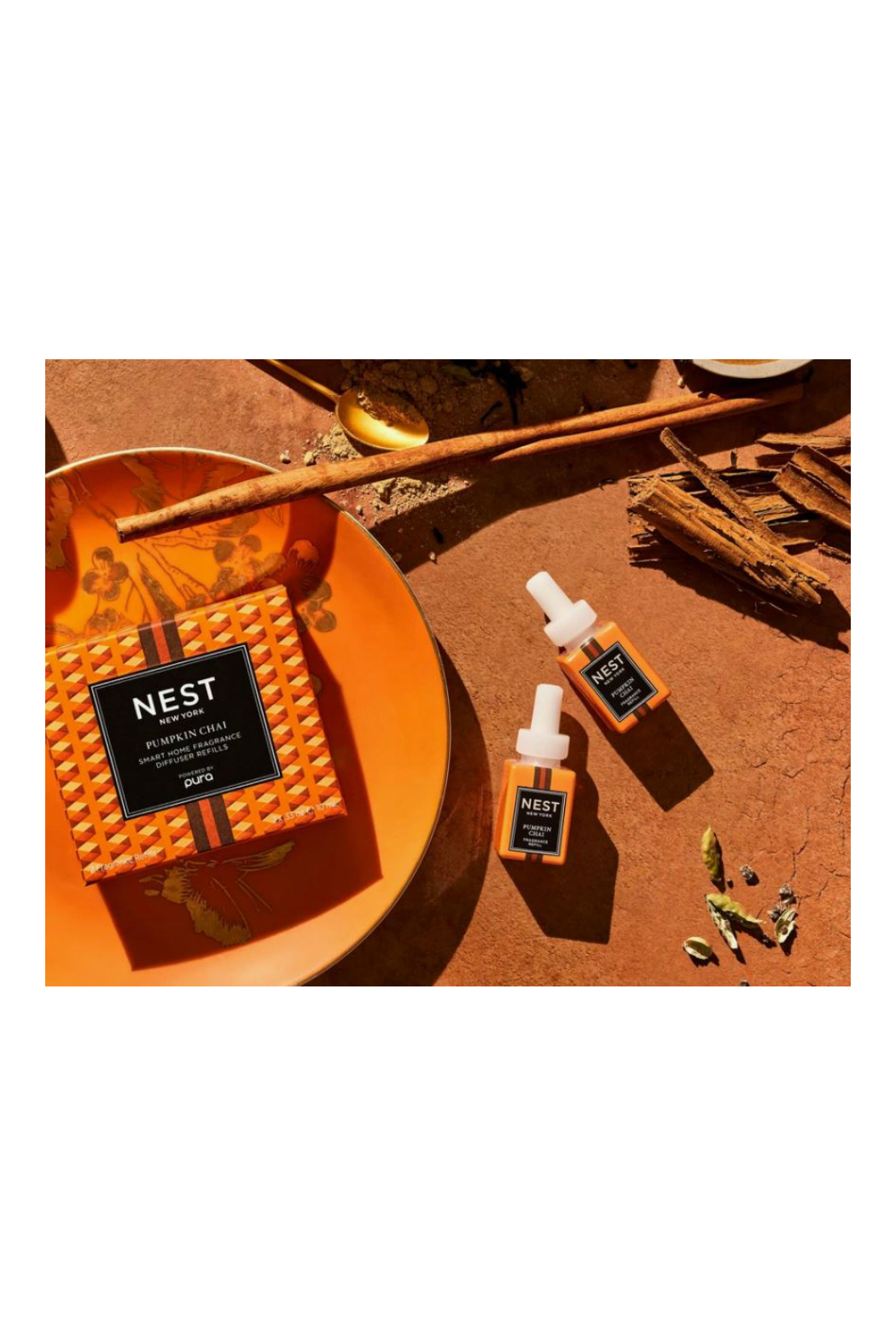 Nest Fragrances Pumpkin Chai Refill Duo for Pura Smart Home Fragrance Diffuser - Side Cropped Image