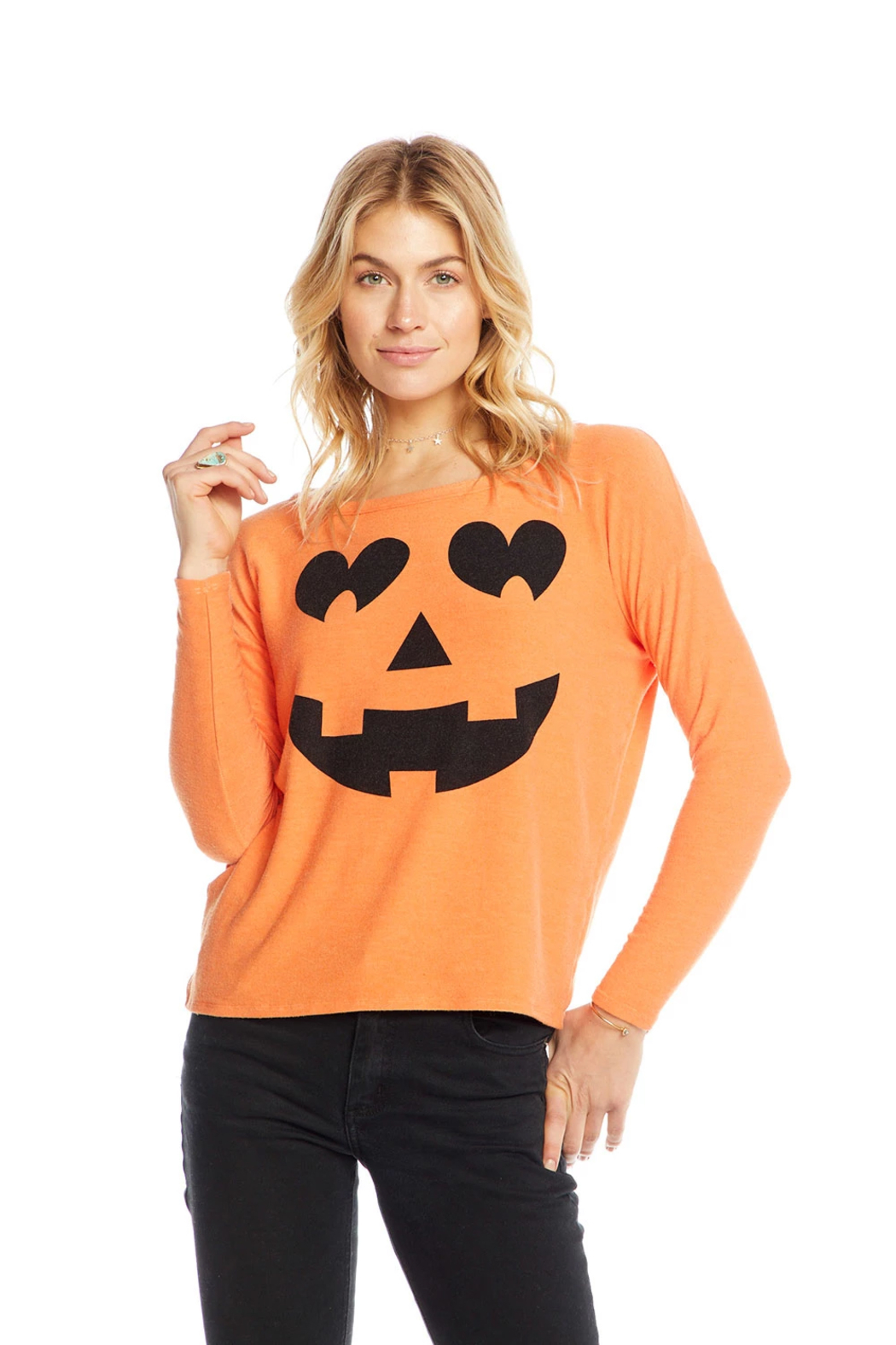 Chaser Pumpkin Face Knit - Front Full Image