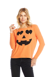 Chaser Pumpkin Face Knit - Front full body